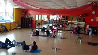 Tabata bootcamp fun at n'Caliente Fitness.
