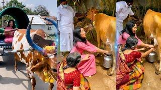 VIDEO: கிராமத்து பெண்ணாக மாறிய VJ Ramya 😍 | Master | Game Over | Aadai | Tamil Actress | Tamil News