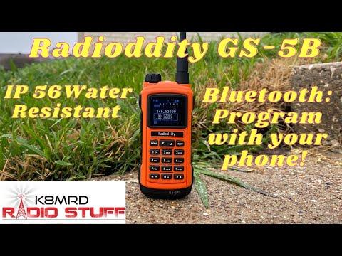 Radioddity GS-5B | Smart Phone Programmable VHF/UHF Ham Radio.