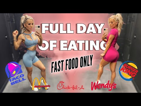 WHAT I EAT IN A DAY | Fast Food ONLY
