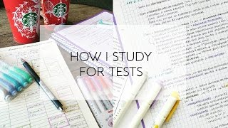 How I Study for Tests