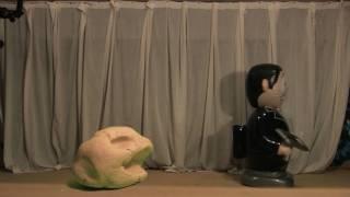Bill meets Frank, my monster in the loft - Green Screen Test