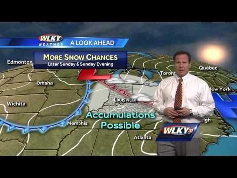 A couple of light snow chances. Chief Meteorologist Jay Cardosi has the updated forecast