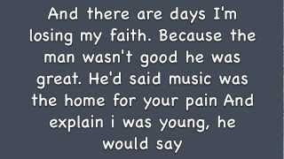 The Script - If you could see me now (Lyrics)