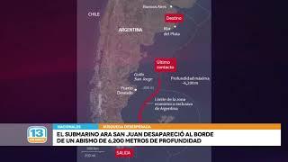 El submarino desapareció al borde de un abismo de 6.200 metros de profundidad