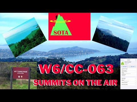Summits On The Air SOTA. W6/CC-063 Mount Tamalpais in Marin County Ca.