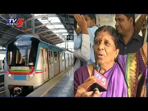 Good Response To Ameerpet - LB Nagar Metro | Hyderabad | TV5 News