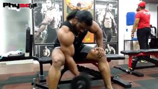 INDIAN BODYBUILDER SANGRAM CHOUGULE  WORKOUT ROUTINE  BICEPS AND SHOULDERS
