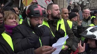 Gilets jaunes : conférence de presse et tensions (15 décembre 2018, Place de l'Opéra, Paris)