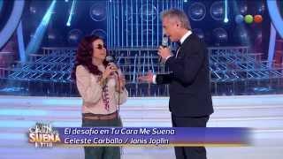 Devolución, Celeste Carballo es Janis Joplin, Maybe - Tu Cara me Suena 2014