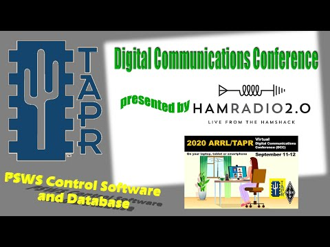 HamSCI PSWS Control Software and Database - TAPR Digital Communications Conference 2020