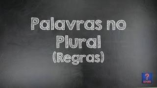 Palavras no Plural (regras) - Aula de Inglês #9