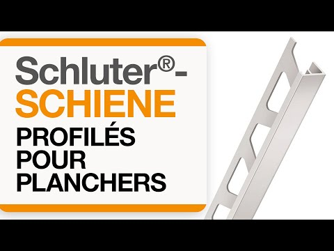 Comment installer un profilé de transition dans un carrelage au sol : Schluter®-SCHIENE