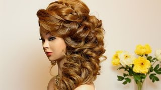 Fine Download Video Curly Wedding Prom Hairstyle For Long Hair Hairstyles For Women Draintrainus