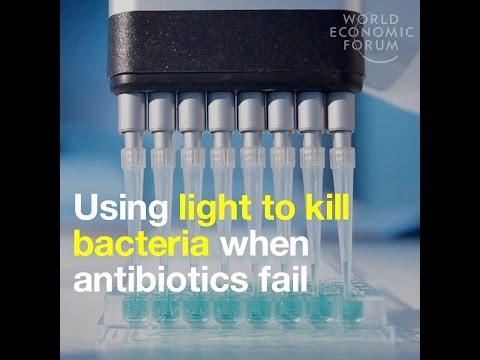 Using light to kill bacteria when antibiotics fail