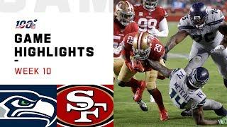 Seahawks vs. 49ers Week 10 Highlights   NFL 2019
