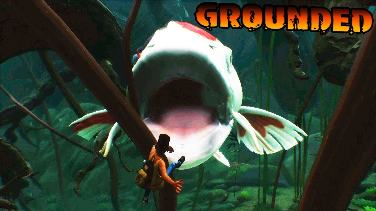NightShadowXO - MAX Got Gulped By The Koi Fish In Grounded!