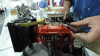 NEW Running miniature chevy small block V8 model engine worlds smallest most detailed 2013