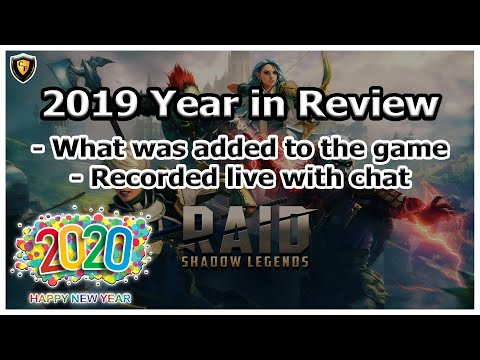 RAID Shadow Legends | 2019 Year in Review | Recorded Live with Chat