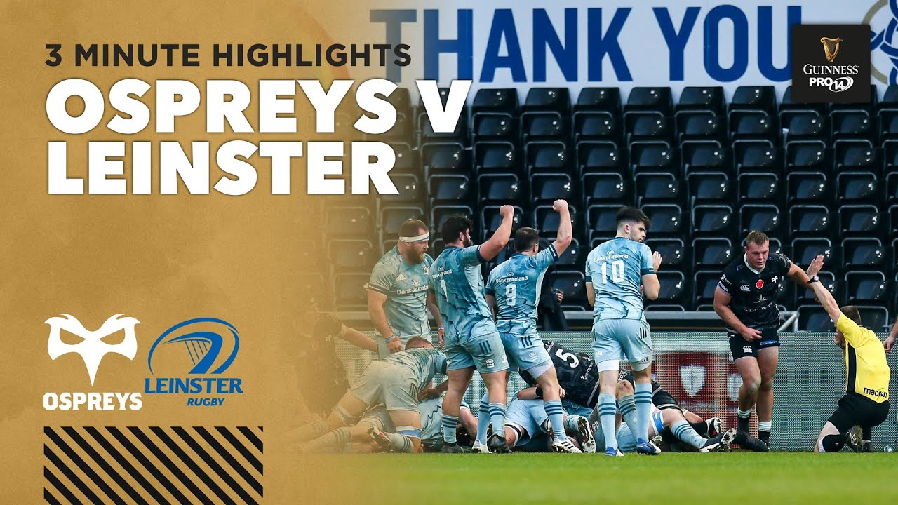Ospreys v Leinster  – PRO14 Rugby Highlights