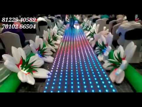 LED Floor | Inflatable Flower Entry Pathway | Wedding Event Decoration India +91 81225 40589 (WA)