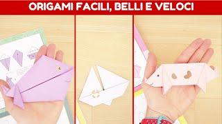 Origami facili, belli e veloci con istruzioni passo passo: animali + barca