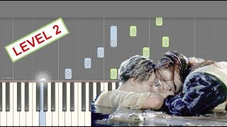 Titanic - Nearer My God To Thee - LEVEL 2 Piano Tutorial PLUS Sheets