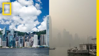 Beautiful Hong Kong Skyline Smothered By Smog | National Geographic