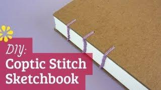 How to Make a Sketchbook   DIY Coptic Stitch Bookbinding Tutorial   Sea Lemon