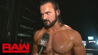 Drew McIntyre on why WWE doesn't need a Shield: Raw Exclusive, Oct. 1, 2018
