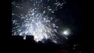 Explosión fallida de la Palmera Imperial en Elche  Nit de l'Albà Elx 13 Agosto 2012