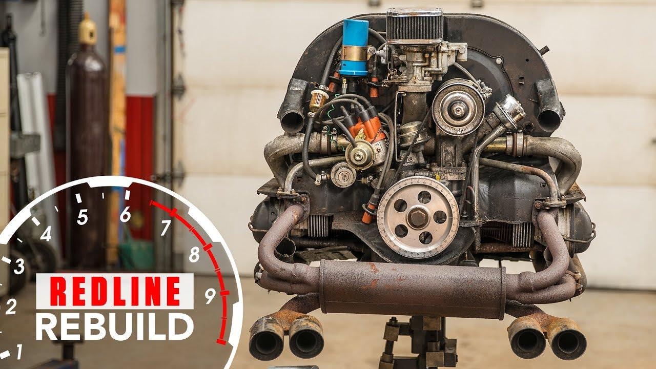 Volkswagen Beetle engine time-lapse video