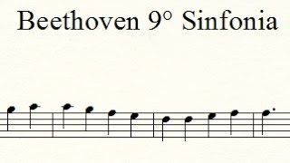 Beethoven 9ª Sinfonia - Ode à Alegria- Partitura/With Sheet Music