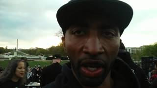 Mysonne keeping it 1000% @ da March4Justice Rally
