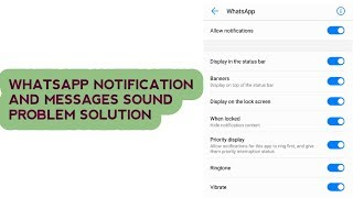 no notification sound on whatsapp android