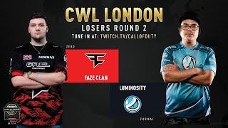 FaZe Clan vs Luminosity Gaming | CWL London 2019 | Day 2