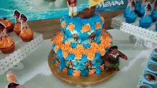 Bolo e Cupcakes- Moana
