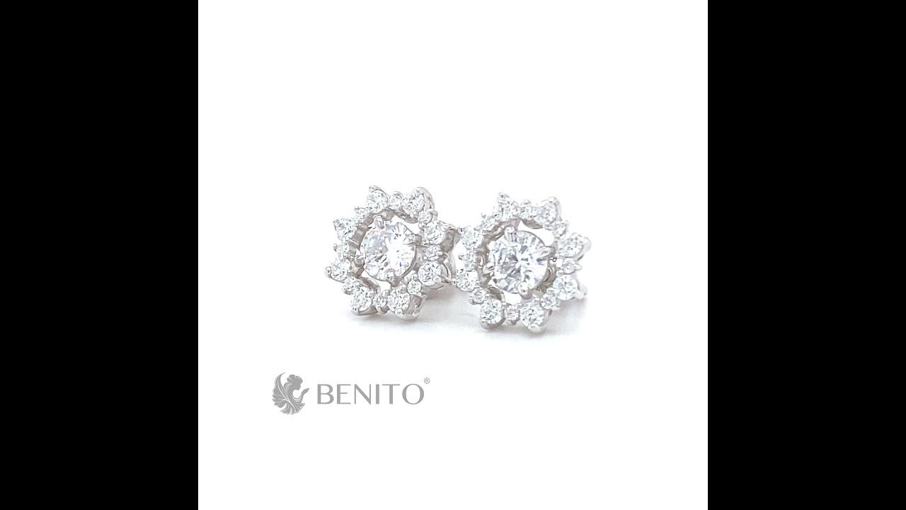 Valentina Earrings White Zircon Stones