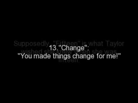 "Taylor Swift-""Fearless"" Album Secret Messages"