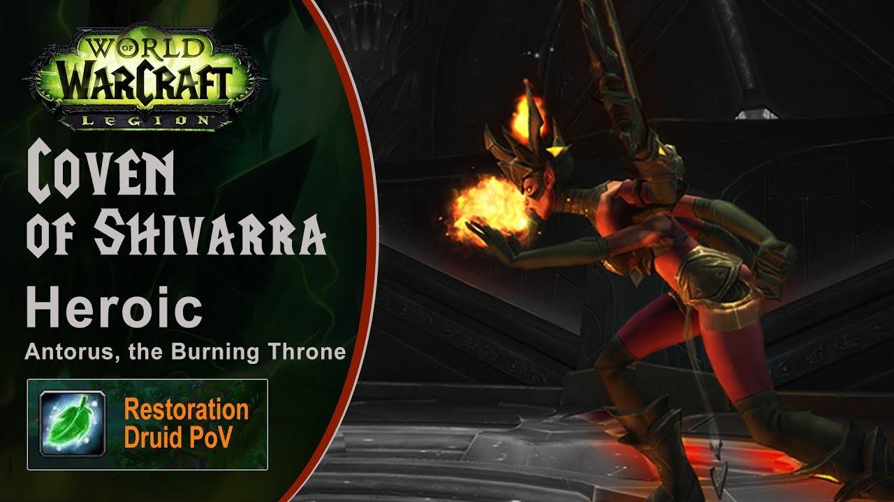 [LGN] Coven of Shivarra, Heroic Antorus, Restoration Druid PoV (Game Sounds Only)