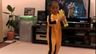 Little Boy and Bruce Lee Kung Fu new