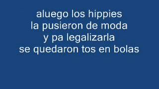 Porretas-Marihuana (letra-lyrics)