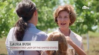 "Laura Bush   appears on HGTV's ""Fixer Upper"" -  January 2018"