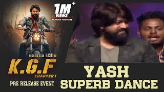 Rocking Star Yash Superb Dance Performance For Salaam Rocky Bhai Song @ KGF Pre Release Event