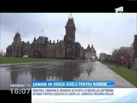 Românii ar putea călători în curând fără vize în Canada