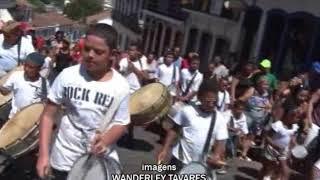 Zé Pereira Mirim fez bonito no último dia de carnaval em Ouro Preto