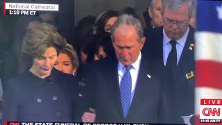 Final moments of President George H.W.Bush Funeral