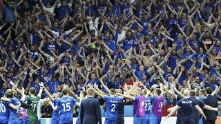 Euro 2016 Viking clapping of Iceland fans