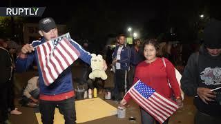 Caravan migrants prepare to make their way to US border