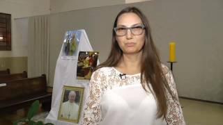 Maria Madalena agradece a Pascom Catedral de Maringá e parte em missão